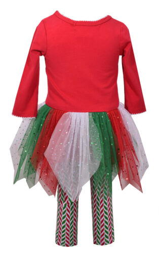 Bonnie Jean Girls Christmas Candy Cane Holiday Dress /& Leggings Set 12M 18M 24M