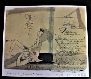 Horst JANSSEN (1929-1995) - Erotik Plakat - Galerie Seifert-Binder - signiert