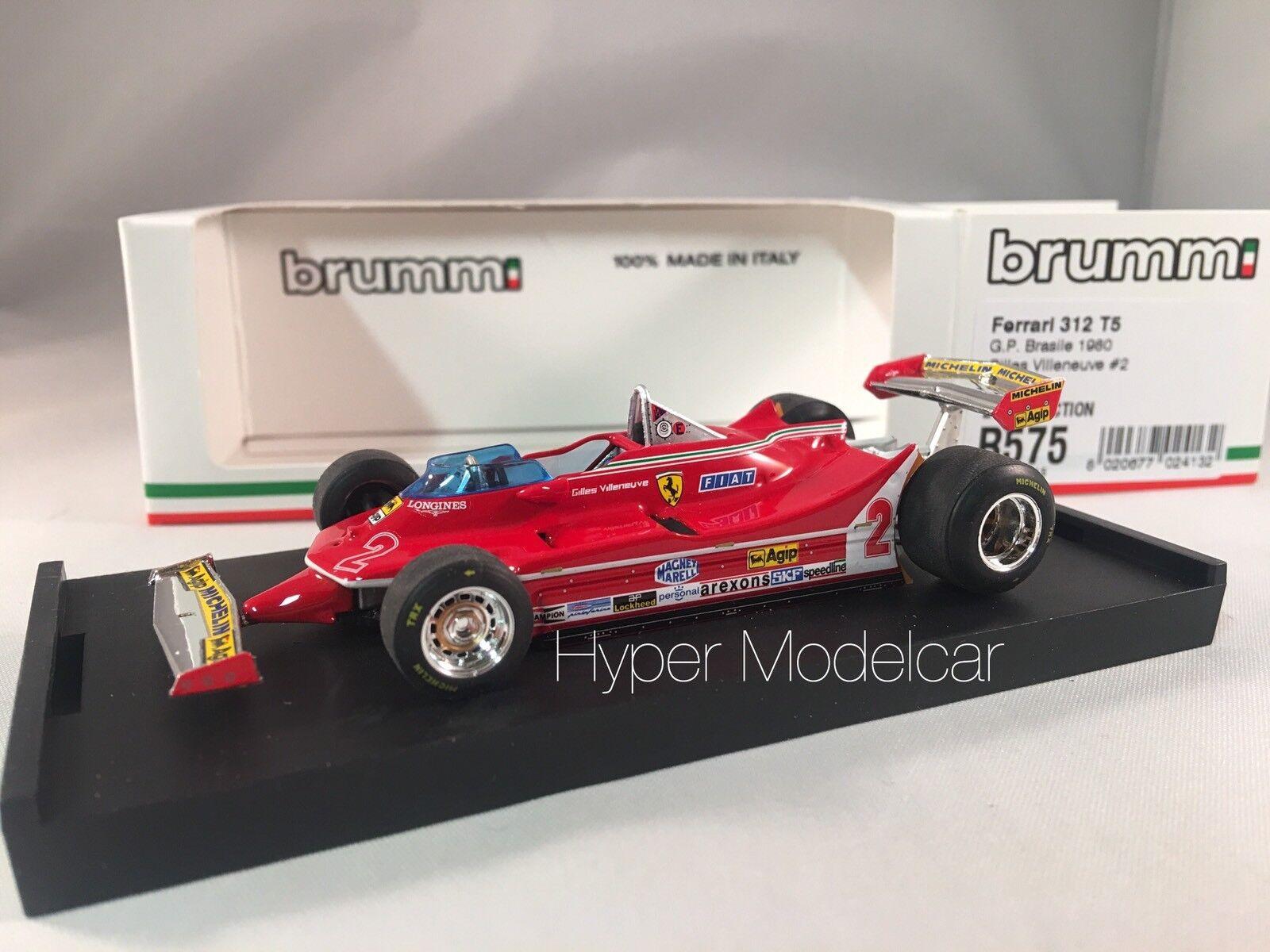 BRUMM 1 43 Ferrari 312 T5  2 Gp Brasile 1980  G. Villeneve Art. R575