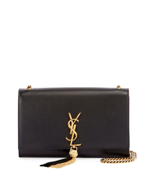31f002a8cb4c AUTH NEW WOMEN YVES SAINT LAURENT MONOGRAM KATE TASSEL CHAIN LARGE SHOULDER  BAG