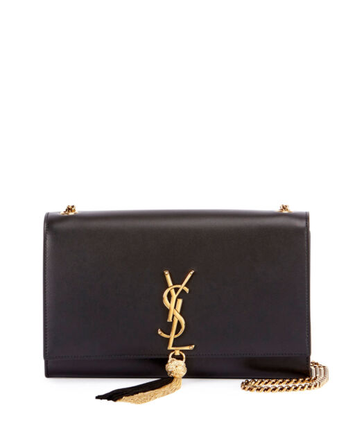 7a355d0ffde3 AUTH NEW WOMEN YVES SAINT LAURENT MONOGRAM KATE TASSEL CHAIN LARGE SHOULDER  BAG