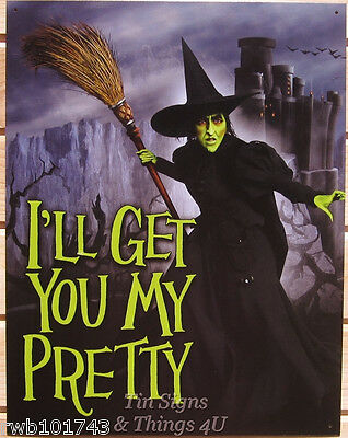 Wicked Witch Of The West Wizard Oz TIN SIGN metal movie poster wall decor 1902