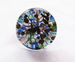 les clients d'abord qualité incroyable plus bas rabais Détails sur Bague en verre de murano authentique .