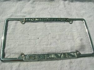 Chuck Colvin Ford >> Chuck Colvin FORD Oregon Dealer License Plate Frame Metal (McMinnville Oregon ) | eBay