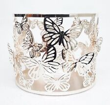 1 Bath Body Works ROSE GOLD BUTTERFLY Large 3-Wick Candle Holder 14.5 oz Sleeve