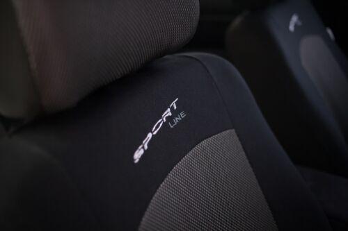 Sitzbezüge Sitzbezug Schonbezüge für Nissan Qashqai Dunkelgrau Sportline Set