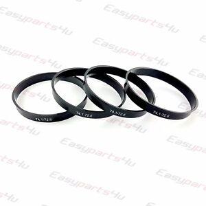 71,6mm Cerchi in lega ANELLI CENTRAGGIO CERCHI IN LEGA anelli 4 X Set anelli di centraggio 74,1mm