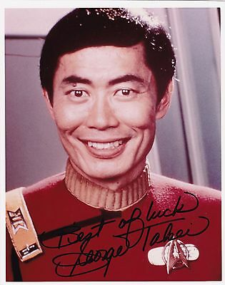 "Television George Takei Star Trek The Movie Signed 8"" X 10"" Photo W/coa High Resilience Entertainment Memorabilia"