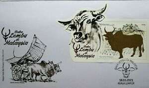 Malaysia FDC with Miniature Sheet (18.03.2021) - Cattle Breeds in Malaysia