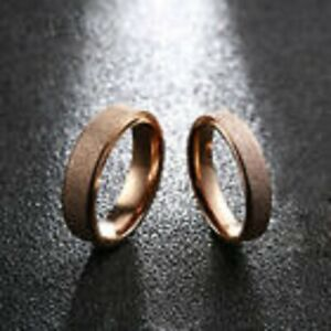Rose Frosted Stainless Steel Ring For Men and Women
