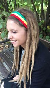 Rastafarian Headband Rasta Headband Reggae Dreadlocks Mens Girls Headband Hippie