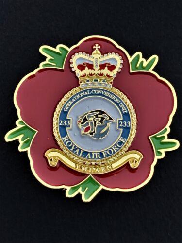 233 OCU Royal Air Force RAF Remembrance Flower Lapel Pin P36