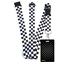 Black-CHECKERS-Standard-size-ID-card-badge-and-lanyard-neck-strap-holder-SPIRIUS thumbnail 26