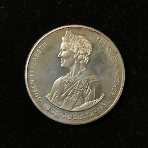 1980-50-PENCE-FALKLAND-ISLANDS-QUEEN-MOTHER-S-80th-PROOF-SILVER-Lot-A509