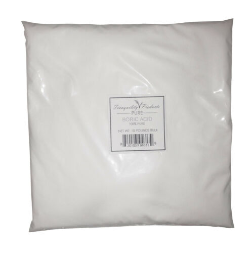 Tech Grade 10lb 10lbs Boric Acid 100/% Pure Powder