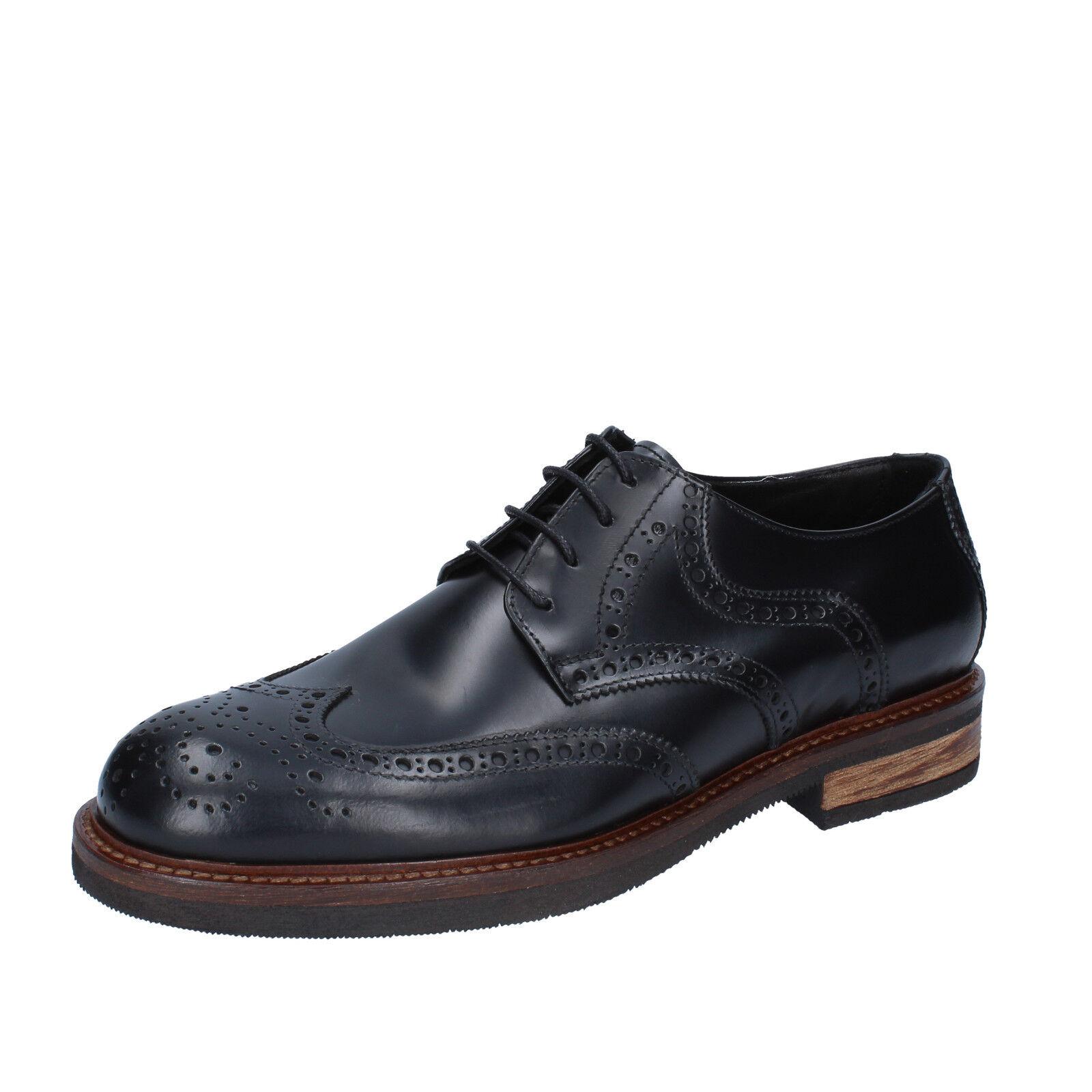 Men's shoes FDF SHOES 11 (EU 44) elegant black shiny leather BZ338-44