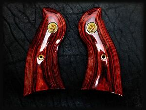 Details about RUGER REDHAWK OXBLOOD GRIPS ~ WITH Gold Liberty Eagle  MEDALLIONS