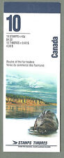 CANADA 1994 Booklet - ROUTES OF THE FUR TRADERS  - 10 @ 43c  - Complete MNH