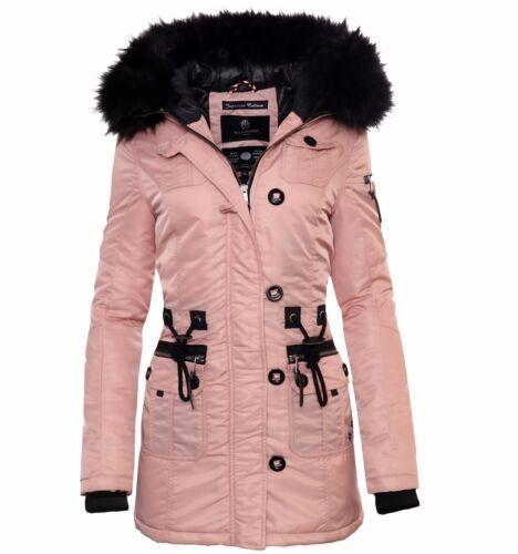 Marikoo Elle Damen Winter Jacke Stepp Parka Mantel Winterjacke warm gefüttert