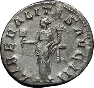 GORDIAN-III-238AD-Authentic-Genuine-Ancient-Silver-Roman-Coin-Liberality-i70215
