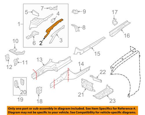 PORSCHE OEM 15-18 Macan Fender-Inner Rail Right 95B805304AYGRV