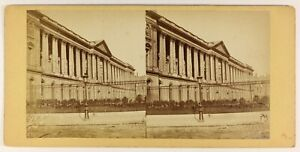 La-Colonnato-Del-Louvre-Parigi-Francia-Foto-PL55L5n-Vintage-Albumina-c1880