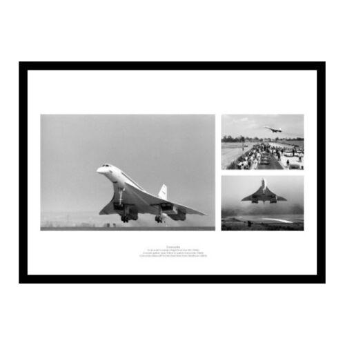 COMU1 Concorde First /& Last Flights Montage Aviation Photo Memorabilia
