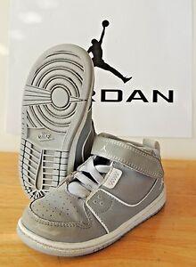 Nike Air Jordan Flight 1 Gray 8C PS TD GS Basketball Shoe Sneaker ... a7bd00eb5