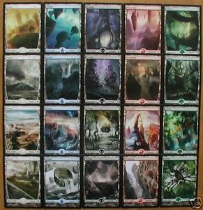 Original-Zendikar-FULL-ART-Basic-Land-Set-20x-MTG-cards-1x-each-art-OASIS