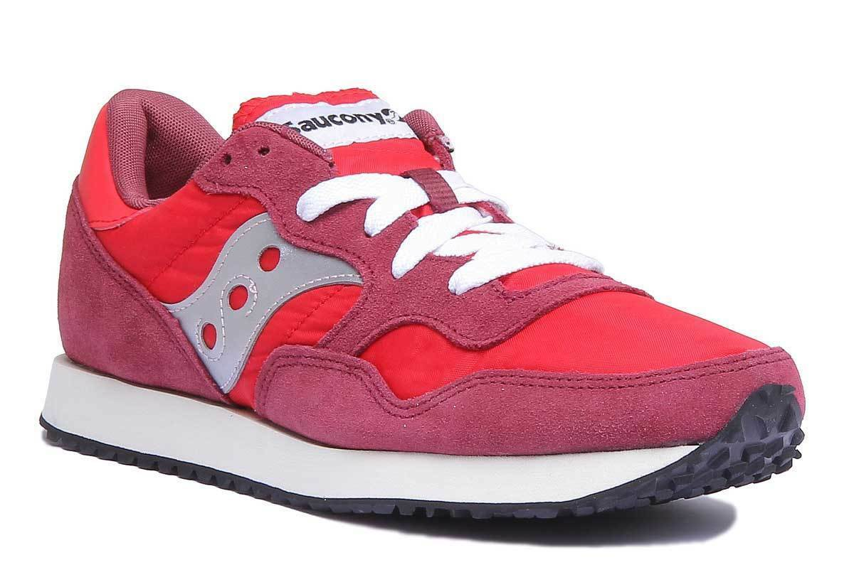 b4431f70abcab DXN Vintage Red Fabric Suede Trainers Size Men Saucony zpwoks7044 ...