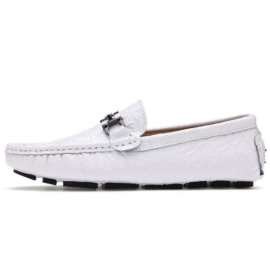 New Fashion alligator Print Leather Men's Driving Moccasin Loafers Casual shoes