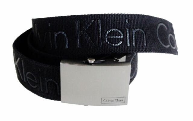 CALVIN KLEIN ADJUSTABLE BLACK 38mm CANVAS MEN S BELT CK 73545 size S,M,L 43ce62bf111
