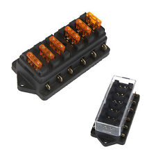 Universal 6 way Fusebox fuse blade box fuseholder kit car/boat for Middle-sized