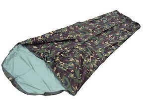 DPM-Woodland-Camo-Bivi-Bag-Goretex-Sleeping-Bag-Cover-GRADE-1