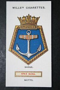 HMS-CAPETOWN-Royal-Navy-Cruiser-Vintage-1920-039-s-Card-VGC