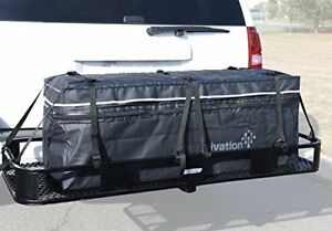 "Hitch bag - 100 % Waterproof Expandable Hitch Tray Cargo carrier bag 48"" x 19"" x"