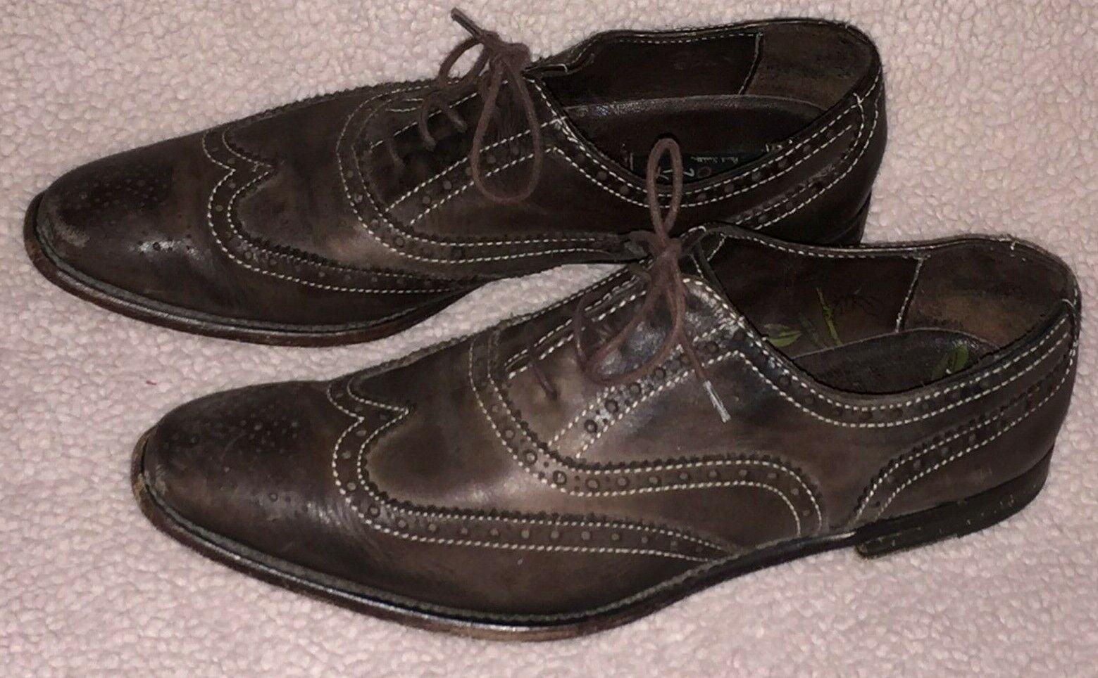 PAUL SMITH Men Only Only Only Wing Tip OXFORDS Ladies 39 7.5 Brown Leather shoes  EUC 9448a2