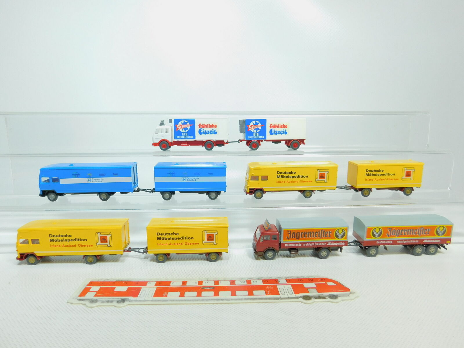 Bo812-1 x h0 1 87 wiking road train mb  BR + y +