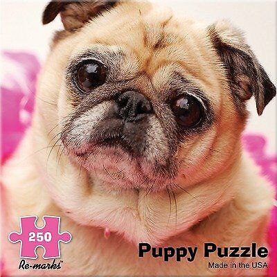 Re-Marks 250 Piece Jigsaw Puzzle Pug Puppy Puzzle