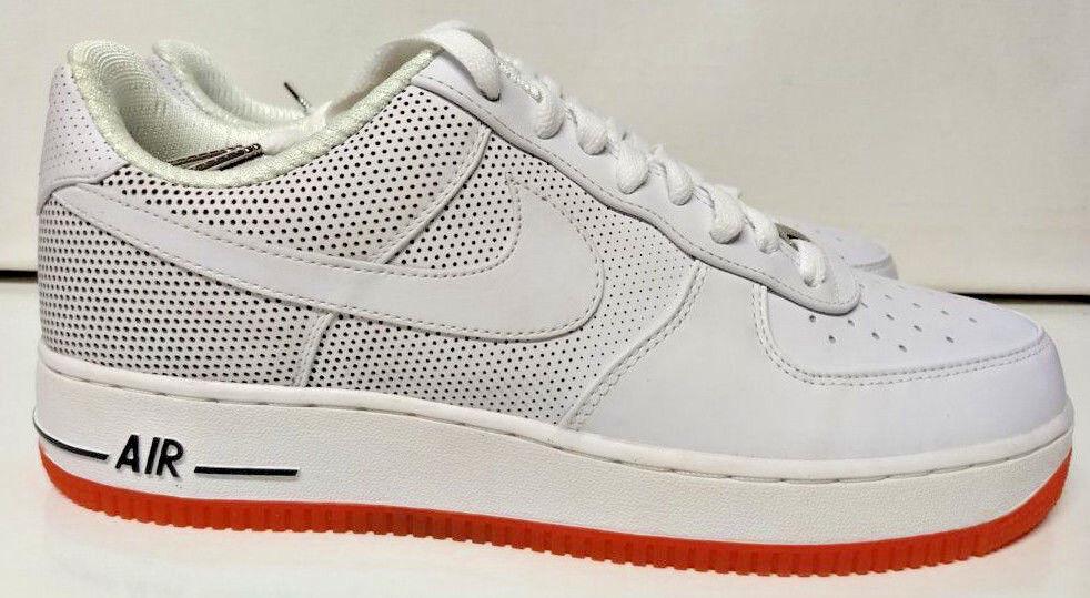 Nike air force 1 geringe prämie größe 10 futura wahr sein weißes orange schuh 318775-112
