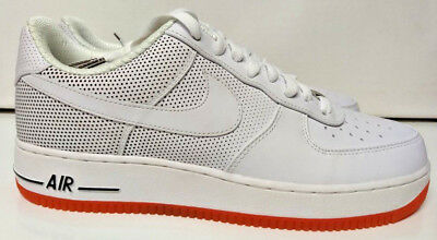 classic fit dcbe6 d499b Nike Air Force 1 Low Premium Size 10 Futura Be True White Orange Shoe  318775-