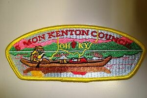 OA-SIMON-KENTON-COUNCIL-SCOUT-PATCH-CSP-OH-RED-FDL-KY-SERVICE-FLAP-PLASTIC-BACK