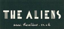 9.5cm by 4.5cm Promotional Sticker THE ALIENS www.thealiens.co.uk MINT BETA BAND