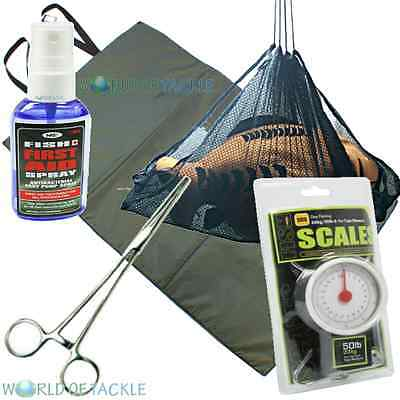 Unhooking Mat Weigh Sling Scales Forceps Anti Bacterial Spray Carp Fishing
