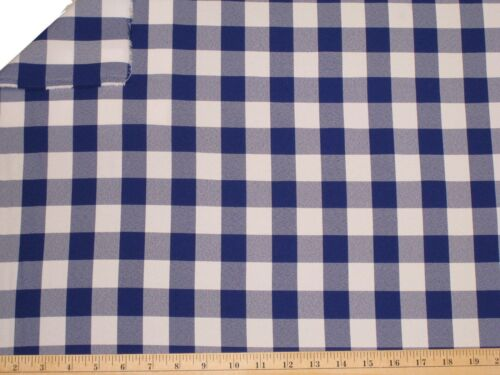 """25 Yards Checkered Fabric 60/"""" Wide Gingham Buffalo Checked Tablecloth 3 COLORS"""