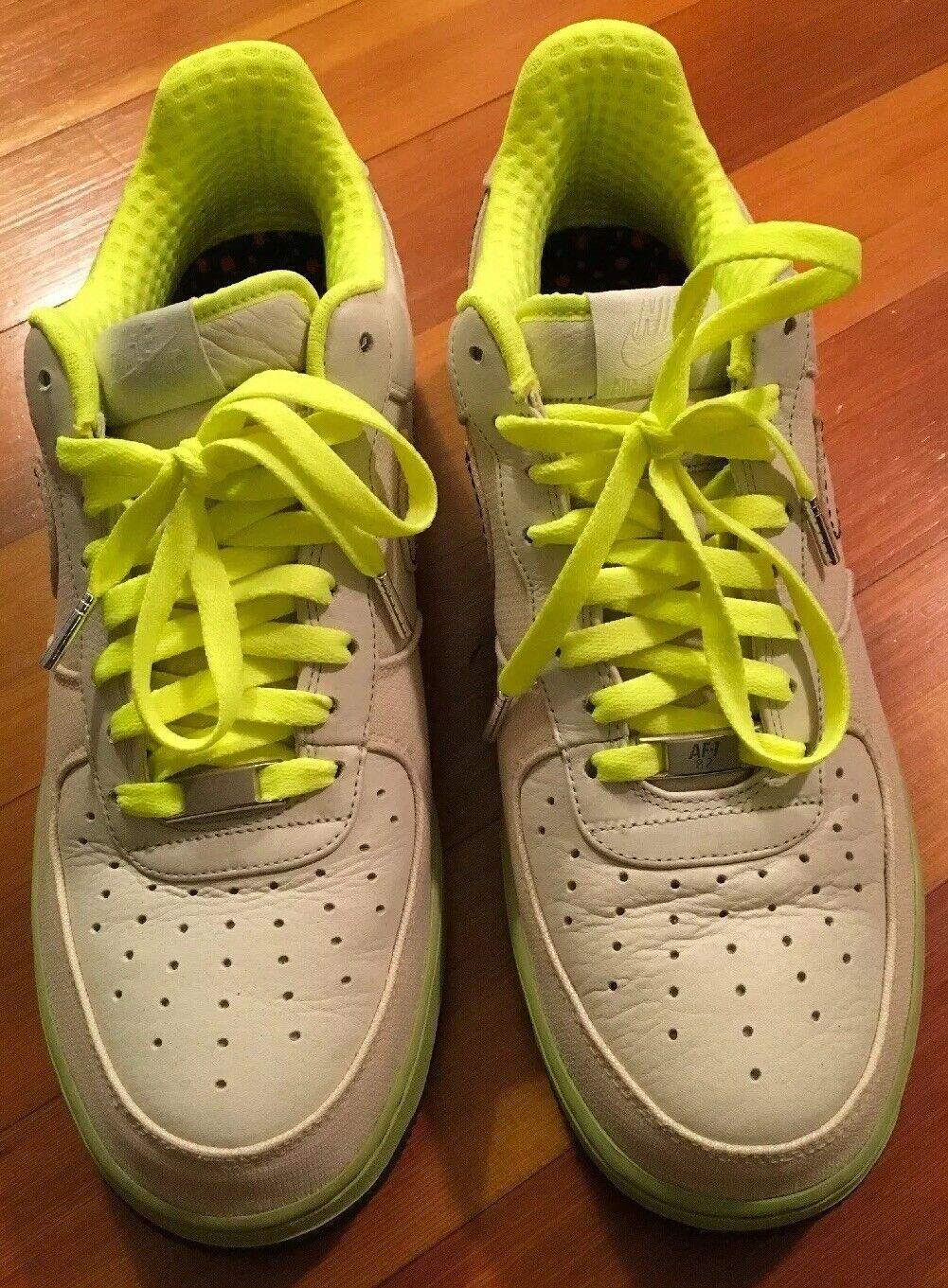 Nike Air Force One 1 XXV Tgoldnto Bone Volt Linen Size 10.5 (315180-002) 2007