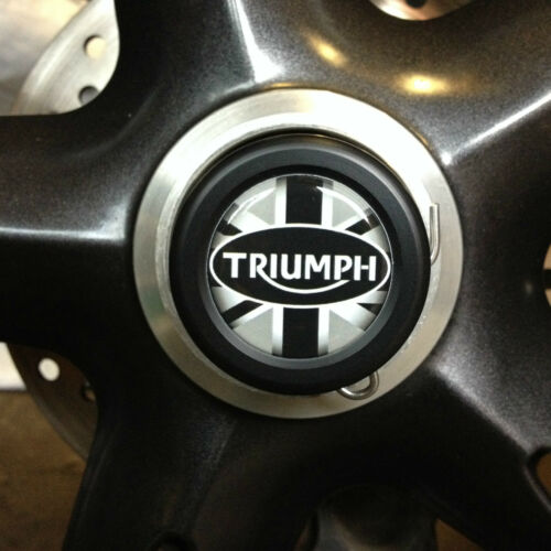 TRIUMPH TIGER SPORT 1050 AXLE WHEEL SPINDLE PLUGS BUNGS UNION JACK 2013-2018