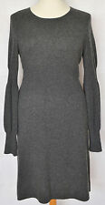 Magaschoni Dark Grey Cashmere Long Sleeved Jumper Dress - L 12 14 16 / 40 42 44