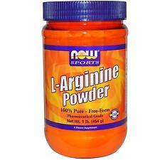 L-Arginine Poudre - 454g par Now Foods - 100% Pure Gratuit Form Acides Aminés