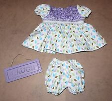 "Handmade Clothes For 14"" - 16"" Baby Doll - ""Petal Power"" Purple Floral Dress Set"